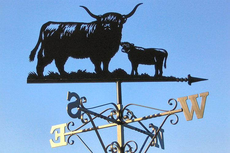 Quality Bespoke Wrought Iron House Signs Weathervanes