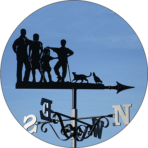 Family & friends weathervanes